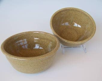 2 Cereal Bowls in Wheat Glaze