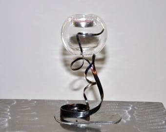 (REF 20 CANDLESTICK) wrought iron candle holder