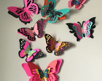 Wall Decor, 3D Butterflies