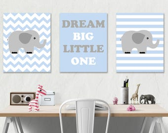 Elephant Nursery Art Print Digital Nursery Print Boy Printable Art Baby Room Decor Printable Nursery Wall Art INSTANT DOWNLOAD