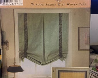 Simplicity patterns 9117 (window shades), 5390 (window shades), 0750 (Sewing for dummies - window shades)