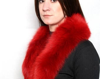 Genuine Real Red Fox Fur Collar