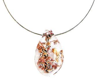 Murano Glass Teardrop Pendant from I Love Murano  'Hi Tech', Murano Glass Pendant, Murano Glass Necklace, Murano Glass Jewelry, Murano Glass