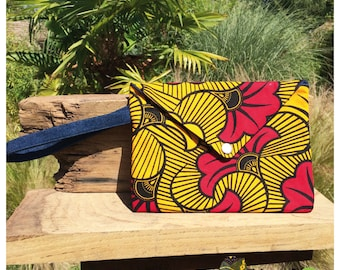 Pouch 1 denim and African