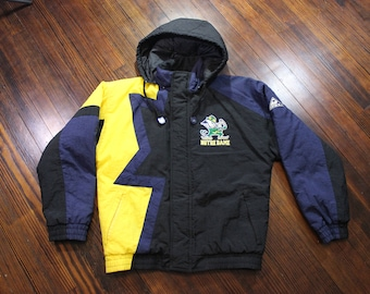 Vintage 90s Notre Dame Fighting Irish Apex One Coat Jacket Mens Size Small EUC