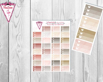 Printable To Call Half Box Checklists - Neutral Colors