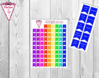 Printable School Flags - Bright Colors