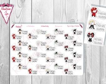 Pixie Unicorn Halloween Countdown Stickers