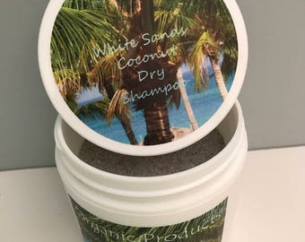 White Sands Coconut Dry Shampoo A Wonderful Product for Absorbing Oil & Adding Volume and Texture *Contains Organic Ingredients*  3 1/2 Oz.