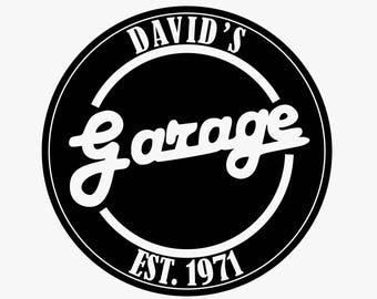 Custom Garage Sign Decal