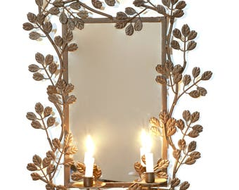 1 Ornate Mirror With Candle Holders