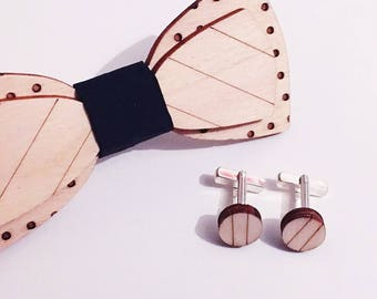 Stripe dot, wooden bow