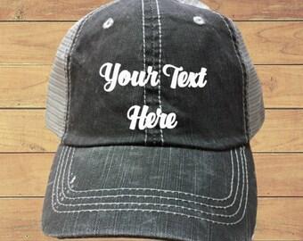 Distressed Trucker Hat  -Custom Trucker Hat  -Funny Trucker Hat  -Women's Trucker Cap - Men's Trucker  Baseball Cap -Gift For Him Her