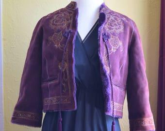 Purple Vintage Hippy Jacket