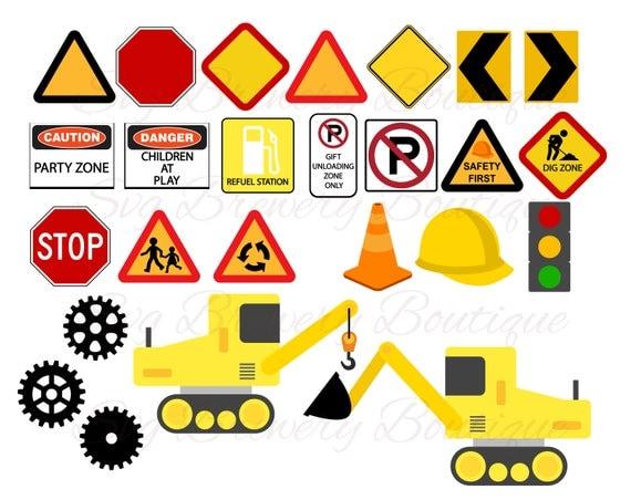 Under Construction Birthday Theme Road Sign Gear Truck Svg