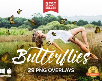 29 Butterflies Photoshop Overlays. Butterfly overlay, Photo overlay, Butterfly png, Butterflies overlays, Summer overlays, Flying butterfly