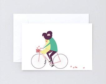 Greeting card» bike love»