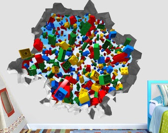 Charmant Lego Play Marshall Chase Wall Decal   Lego Smashed Sticker   Kids 3D  Smashed Art