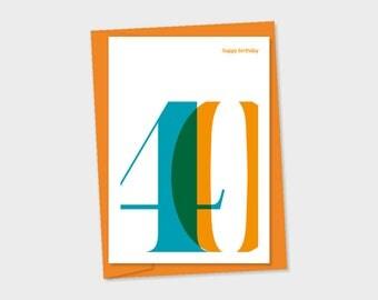 40th Birthday card – birthday card