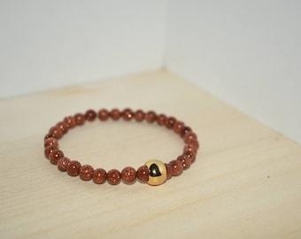 Gold Sand Beaded Bracelet
