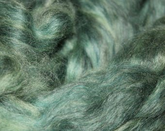 Forest exotic mohair / alpaca / wool blended roving, 3oz skeins