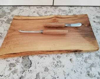 Silver Maple Cheese Board and Knife Set