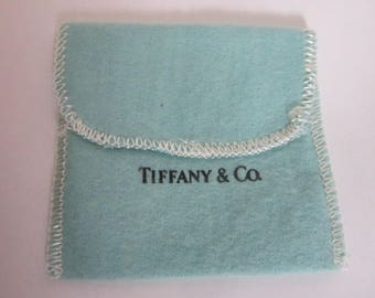 Vintage Tiffany & Co Blue Jewelry Bag