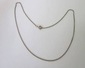Vintage Silver Tone 15 inch Chain Necklace