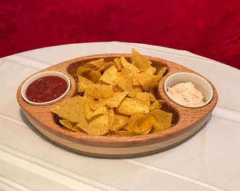 Wooden Chip and Dip Bowl