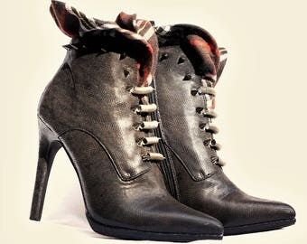 Steampunk Booties Size 9 - Cosplay/LARP