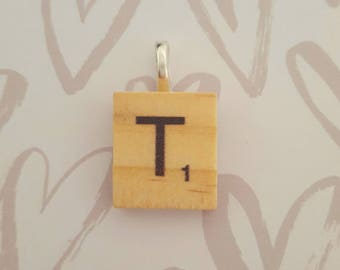 Scrabble letter pendant for necklace