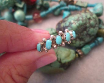 Lovely Navajo handcrafted Sterling & Sleeping Beauty Turquoise Band> Pretty Sky Blue Color! > makes a great Wedding Band!