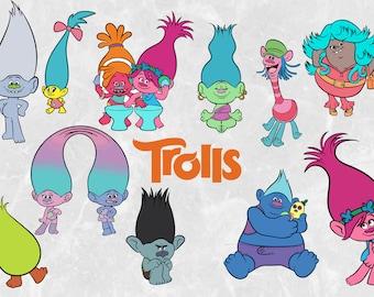 Trolls Clipart pack | Trolls SVG cut file | Trolls Vectors