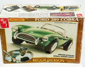 Rare Vintage AMT Ford 289 Cobra Matchbox Reggie Jackson 1/25 Scale Model