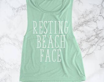 Resting Beach Face Tank, Beach Tank, Beach Shirt, Resting Beach Face,Summer Tank, Beach Tank Top, Womens Tank Top, Resting Beach Face Shirt