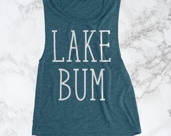 Lake Bum Tank, Vacation Shirt, Boat Shirt, Cruise Shirt, Summer Shirts, Camping Shirts, Lake Gifts, Drinking Shirt, Lake Life, Lake Tank