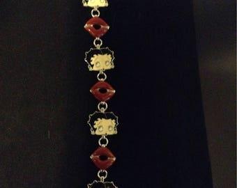 Betty Boop vintage charm bracelet signed  ©KFS/FS