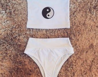 Yin and Yang Bandeau bikini