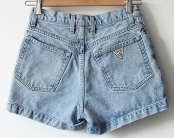 90s jean shorts | Etsy