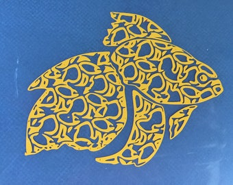 Custom Designed Ryukin Goldfish Vinyl Decal for Yeti, Phone, Laptop & more - You Choose Pattern + Color