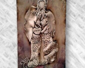 Wall Panel Clay Angel Handmade Wall Decoration Home Decor