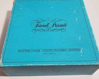 Vintage 1984 Trivial Pursuit Young Players Edition Board Game