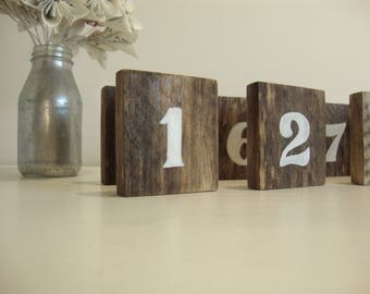 Old wood table number