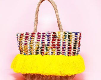 Sunshine Fringed Beach Tote