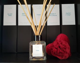Unique Natural Vegetable Base Rattan Reed Diffuser 100ml - vegan diffuser, eco-friendly gift, natural diffuser, Valentines gift, Hygge gift