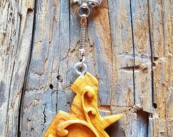 Unique wooden keychain