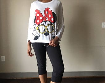 Vintage Minnie Mouse Long Sleeve T-shirt
