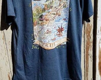 T-Shirt Appalachian Trail Map