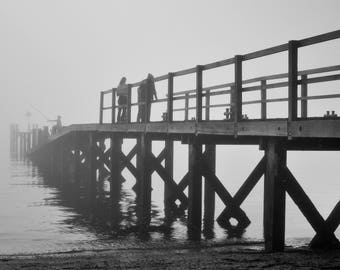 Foggy Fishing Southend Print 09100-03995