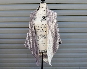 Crochet Snowy Sky Shawl PATTERN ONLY women's wear triangle shawl wrap light weight XL 2XL 3XL All sizes easy gift for her